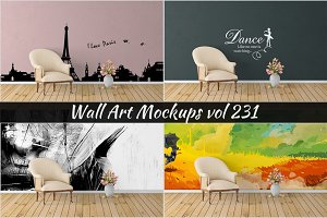 Wall Mockup - Sticker Mockup Vol 231