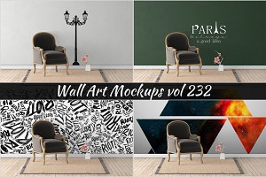 Wall Mockup - Sticker Mockup Vol 232