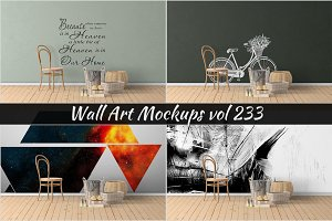 Wall Mockup - Sticker Mockup Vol 233
