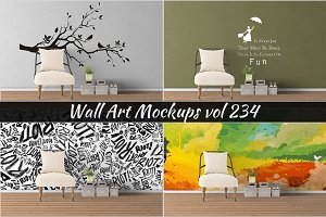 Wall Mockup - Sticker Mockup Vol 234
