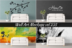 Wall Mockup - Sticker Mockup Vol 235