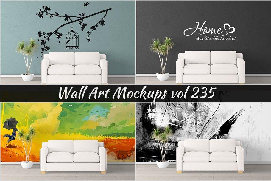 Wall Mockup - Sticker Mockup Vol 235