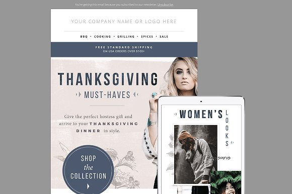 gift guide e mail template psd email templates creative market