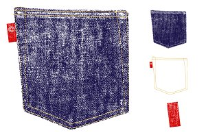 Denim Pocket Texture Vector