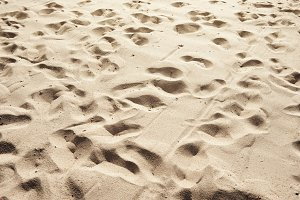 Texture of sand and footprints