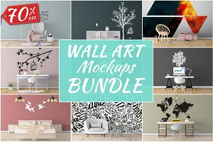 Wall Art Mockups BUNDLE V13