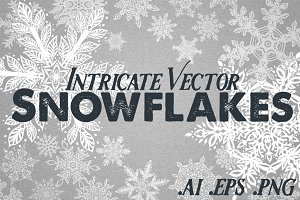 Snowflakes - 23 Intricate Vector