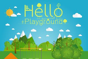 playground. Natural landscape