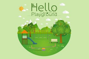 Hello playground. Natural landscape