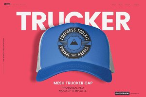 Trucker Cap Photoshop Template