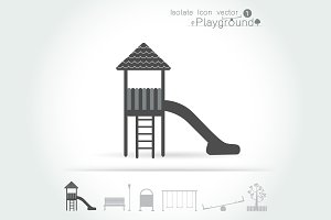 Playground icon isolate set