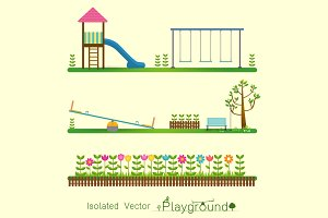 kids Playground icon isolate