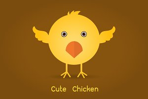 cute yellow easter chicken