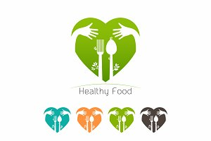 Healthy Food template on white