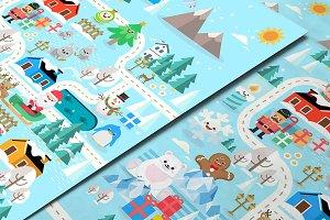 Xmasland Christmas poster design
