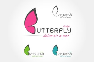 Colorful abstract butterfly logo