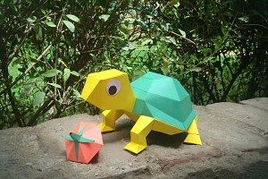 DIY Tortoise - 3d papercraft