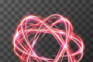 Neon blurry swirl, red trail effect