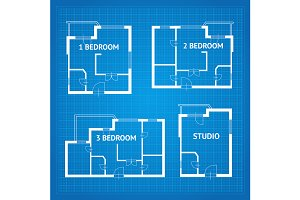 Apartment Floor Plan Set