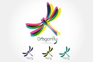 Beautiful logo icon dragonfly