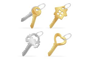 Different Keys Set. Vector