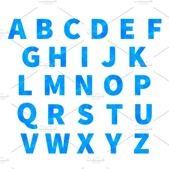 Letters With Triangulated Pattern