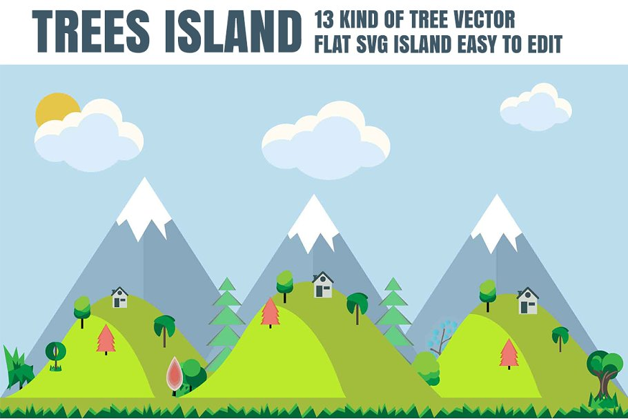 MOUNTAIN LANDSCAPE VECTOR  in Illustrations