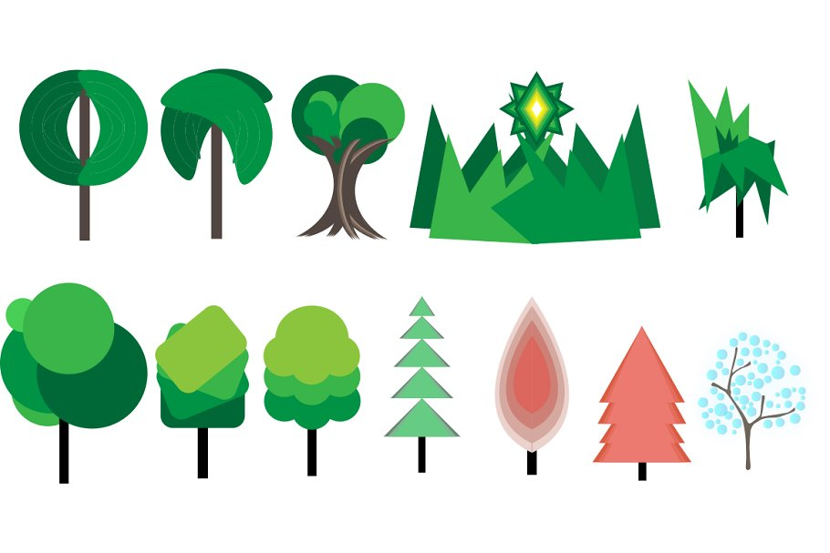 MOUNTAIN LANDSCAPE VECTOR  in Illustrations - product preview 1