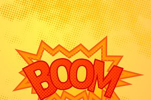 Boom comics sound effect