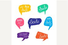 Discount card set of Sale.