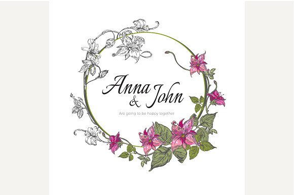 Beautiful wedding invitation