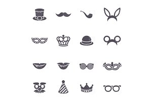 Black carnival icons