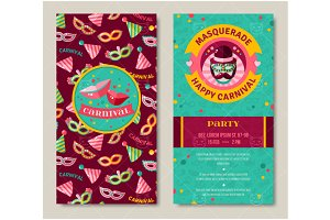 Party carnival invitations