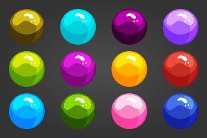 Cute cartoon shiny bubbles