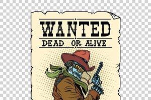 Armed robot cowboy