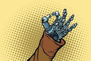 Okay hand gesture robot