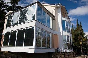 big glass windows