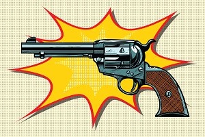 Pop art retro revolver
