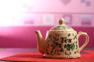 Teapot at the table