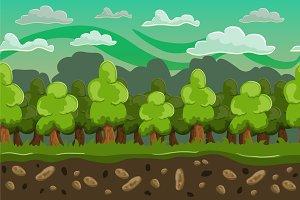 Forest seamless horizontal landscape