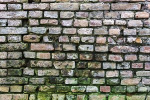 Dirty old brick wall background