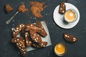 Biscotti with sea salt and almonds