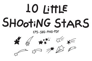 10 Little Shooting Stars