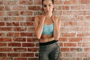 Beautiful woman in sportswear