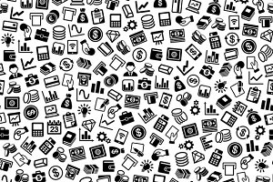 Finance Seamless Pattern Set
