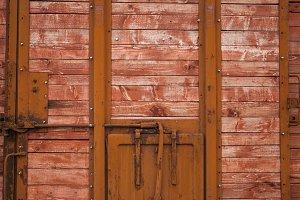 door with wooden planks