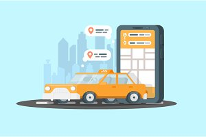 Smartphone with taxi service