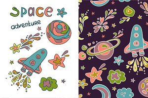 "Pattern "" Space adventure """