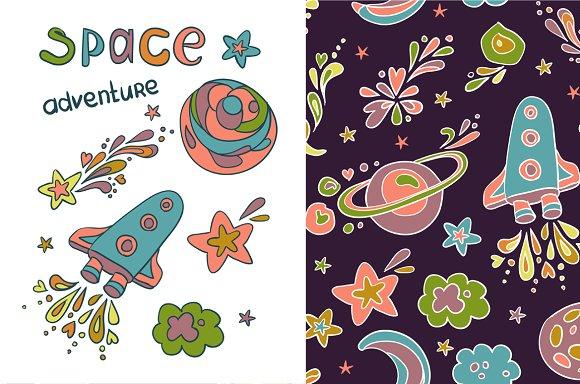 "Pattern "" Space adventure """