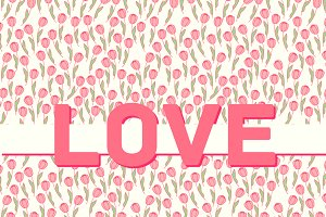 25 LOVE seamless patterns
